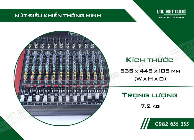 Thiết kế bên ngoài của sản phẩm Mixer Soundking MIX12C