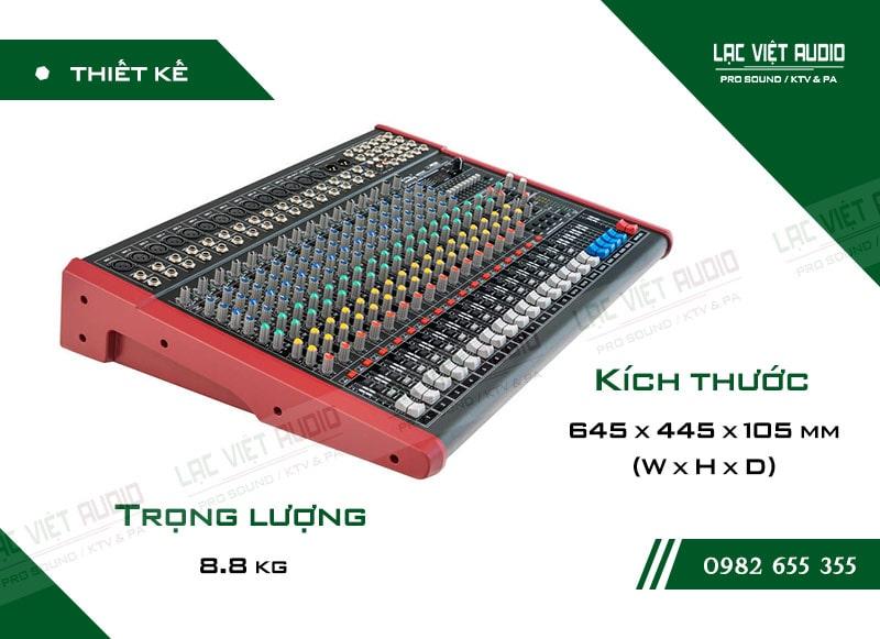 Thiết kế bên ngoài của sản phẩm Mixer Soundking MIX16C