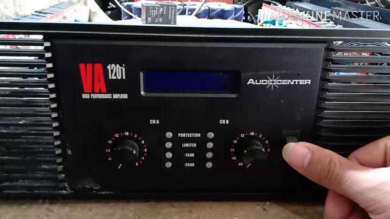 mặt trước cục đẩy công suất Audiocenter 1201