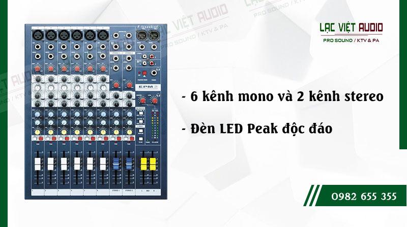 Các đặc điểm nổi bật của sản phẩm Mixer soundcraft EPM6
