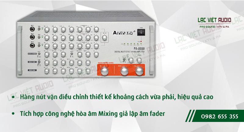 Các đặc điểm nổi bật của sản phẩm AMPLY KARAOKE ARIRANG PA-8800