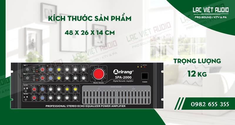 Thiết kế bên ngoài của sản phẩmamply karaoke arirang SPA-2000