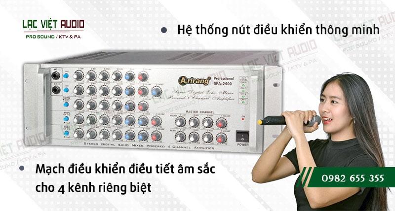 Các đặc điểm nổi bật của sản phẩm AMPLY KARAOKE ARIRANG SPA-2400A