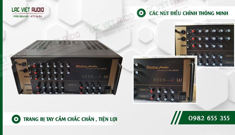 Những tính năng độc đáo của sản phẩm Ampli boston audio PA 8000N