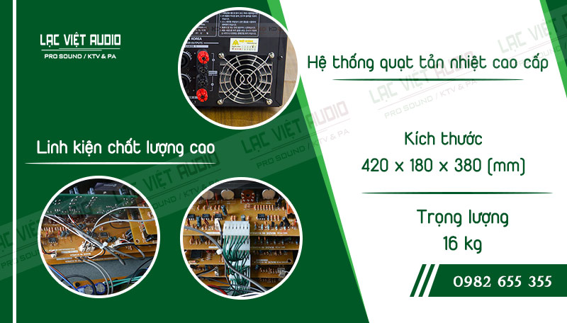Thiết kế bên ngoài của sản phẩm Amply California Pro-968B Bluetooth