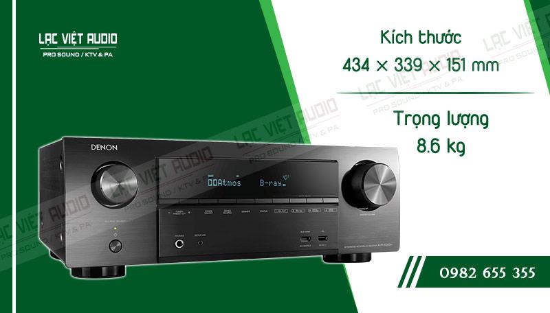 Thiết kế bên ngoài của sản phẩmAmply Denon AVR X1500H