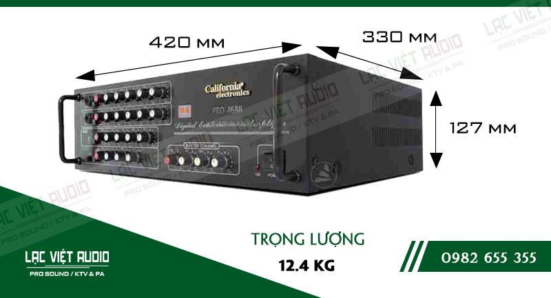 Thiết kế bên ngoài của sản phẩm Amply karaoke California PRO-468B