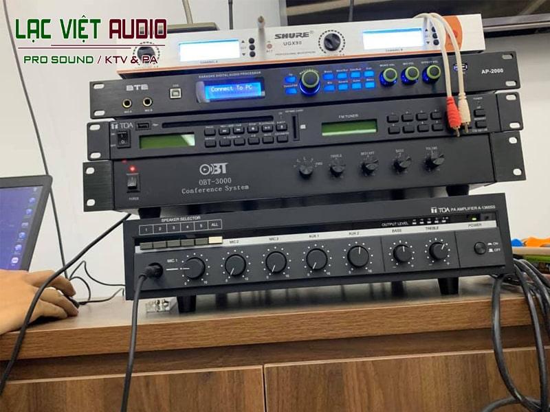 Bộ thiết bị xử lý âm thanh của dự án