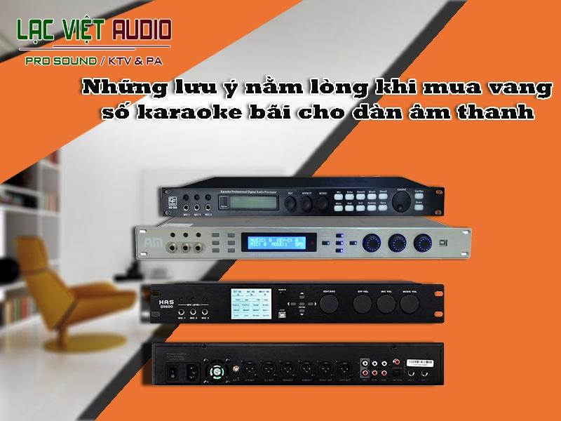 Những tính năng, ưu điểm khi sử dụng vang số karaoke bãi.