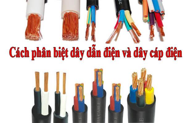 So sánh dây dẫn điện và dây cáp điện