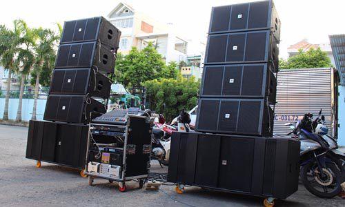 Dàn âm thanh sân khấu ngoài trời gồm những thiết bị nào
