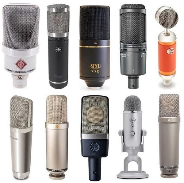 Một số loại Condenser Microphone thịnh hành nhất hiện nay