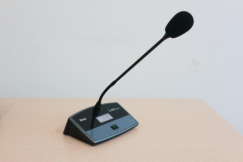 Hình thực tế sản phẩm micro đại biểu không dây Nuoxun NX9886D
