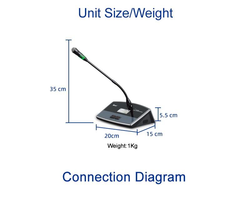 Kích thước, trọng lượng NX-9886C