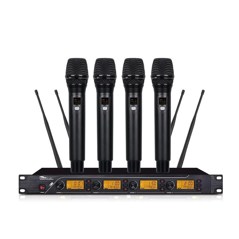 micro không dây 4 tay mic QT-380 (14)