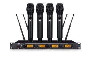 micro không dây 4 tay mic QT-380 2