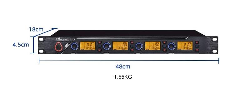 Kích thước trọng lượng Đầu thu QT-380