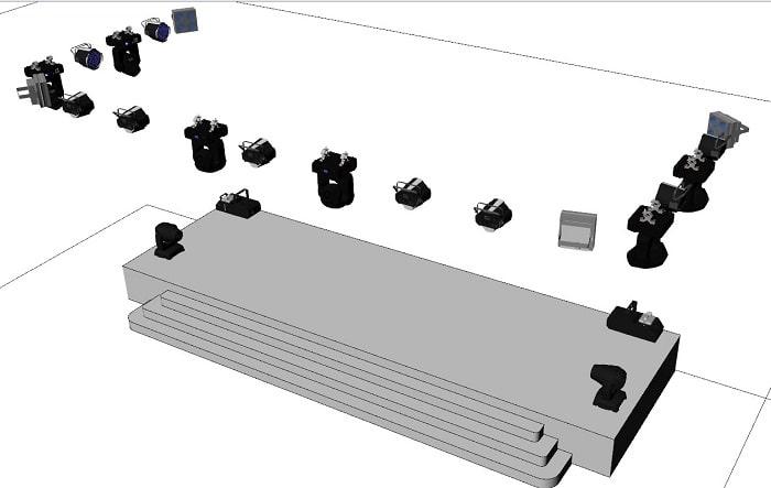 Hệ thống đèn được thiết kế 3D để khách hàng dễ hình dung khi đưa vào sử dụng thực tế
