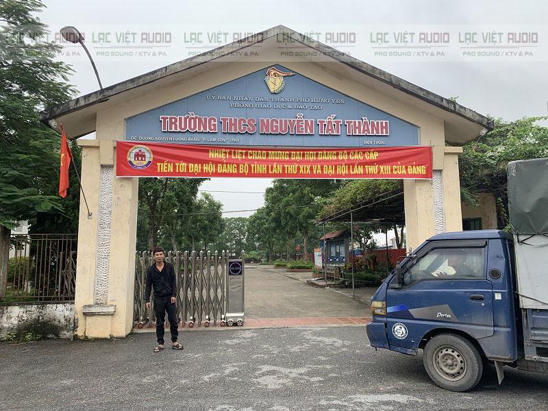 Lạc Việt lắp đặt âm thanh cho trường THCS Nguyễn Tất Thành