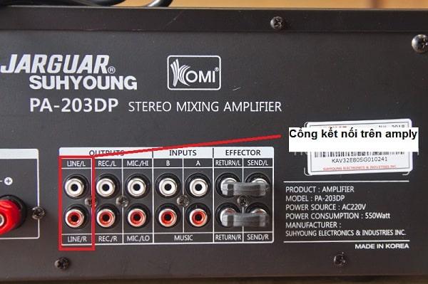 Cách kết nối loa sub điện với amply