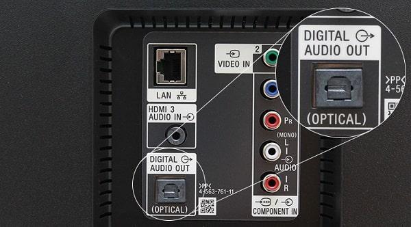 Cách kết nối loa với tivi qua cổng Optical