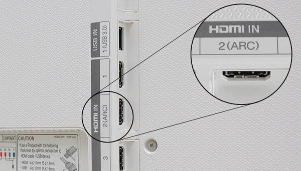 Cách kết nối tv với loa qua cổng HDMI (ARC)