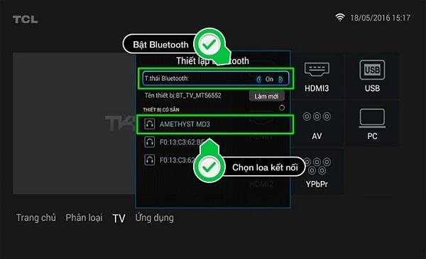 Kết nối loa với tivi qua bluetooth