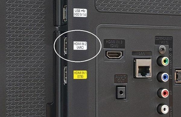Cách kết nối tivi với loa qua cổng HDMI (ARC)