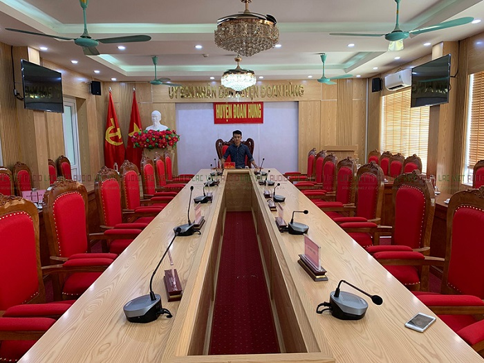 Hệ thống âm thanh phòng họp TOA cho huyện Đoan Hùng