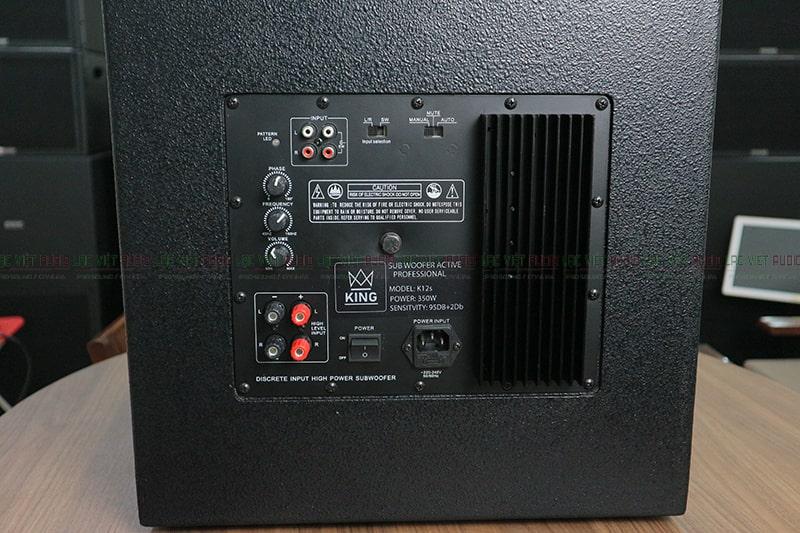 Sub điện với đầy đủ kết nối chiết áp