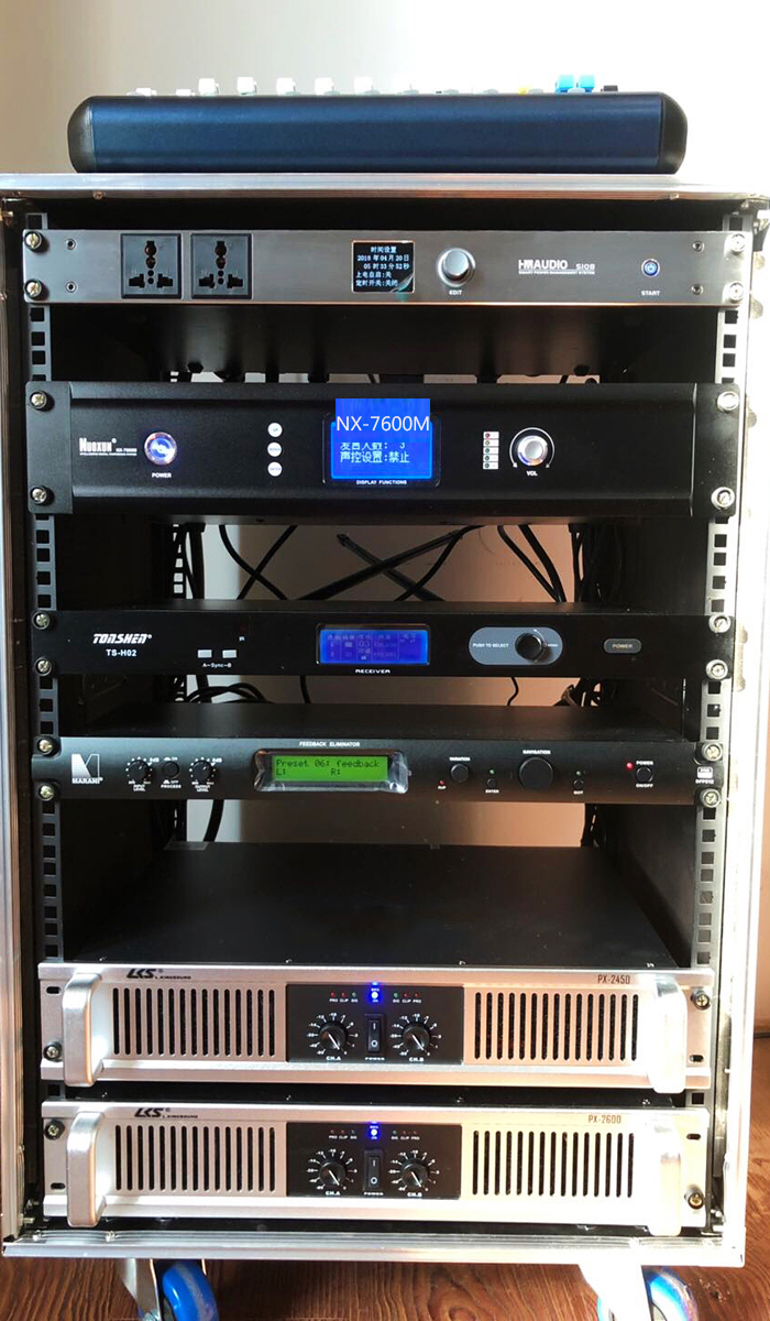 Các thiết bị xử lý được bố trí và setup cẩn thận cho khách hàng