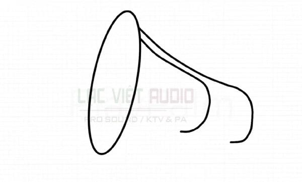 Vẽ loa phát thanh - bước 3