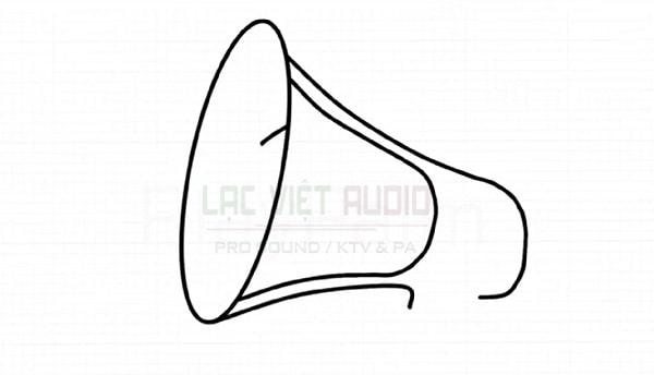 Vẽ hình loa phát thanh - bước 4
