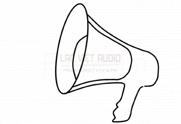 Vẽ loa phát thanh - bước 5