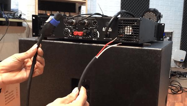 Cách đấu loa sub vào cục đẩy bằng dây nối 1 đầu Speaken