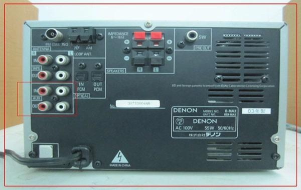 Kết nối cổng aux trên amply với tivi
