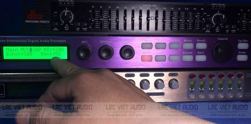 Cách chỉnh vang số X6 bằng tay, máy tính ở bộ Main Out