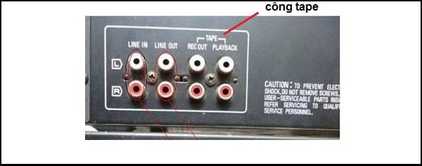 Đặc điểm của cổng Tape trên amply