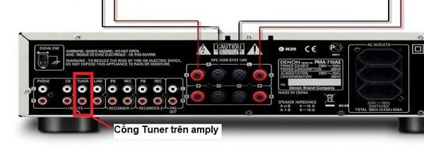 Sự khác nhau giữa cổng tuner và cổng tape trên amply