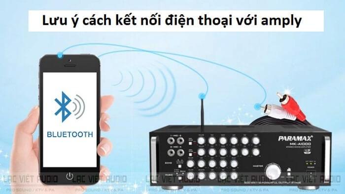 Lưu ý khi thực hiện cách kết nối điện thoại với amply hát karaoke