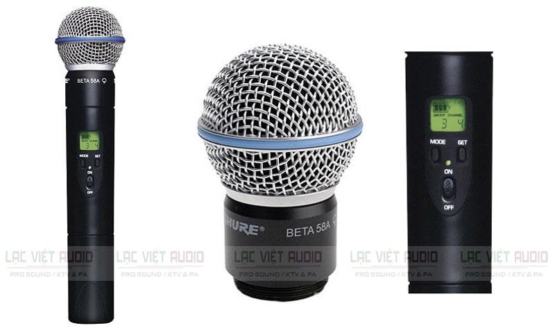 Micro karaoke không dây Shure nhiều loại cho người dùng lựa chọn