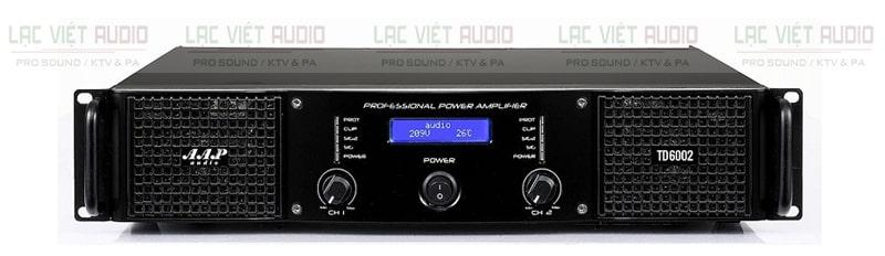 Cục đẩy công suất AAP STD6002 sở hữu thiết kế sang trọng, hiện đại