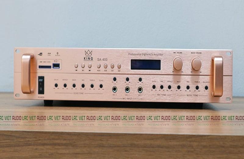 Amply liền vang KING SA-400 mạch 2 công suất chống hú rít cực tốt