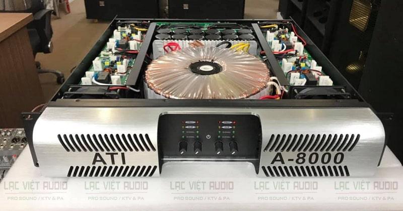 Đẩy ATI A-8000 hoạt động bền bỉ nhờ có hệ thống linh kiện chất lượng