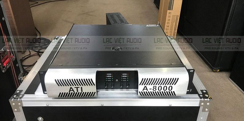 Cục đẩy công suất ATI A-8000 sở hữu thiết kế hiện đại , sang trọng