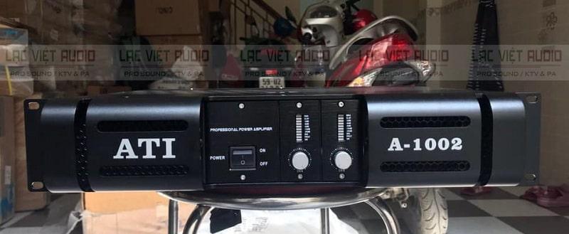 Cục đẩy công suất ATI A1002 sở hữu thiết kế sang trọng, hiện đại