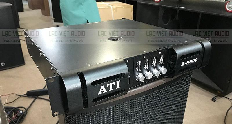 Cục đẩy 4 kênh ATI A-8600 tương thích tốt với các thiết bị âm thanh khác
