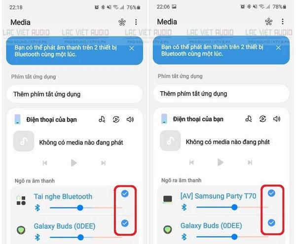 Cách kết nối 2 loa bluetooth android