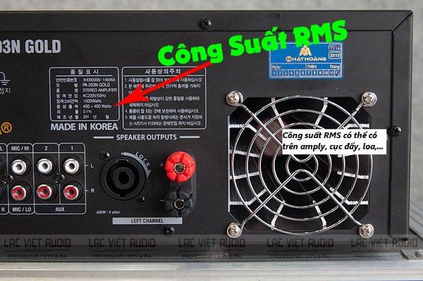 Một vài điều thú vị về công suất RMS của loa và công suất PMPO