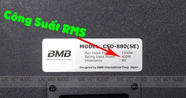 Công suất RMS của loa là gì?